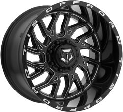 4- 20x12 Black Milled 544bm 5x4.5 And 5x5 -44 Wheels Trail Blade Mt 33 Tires