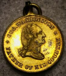 1869 Flags And Arms - F.c. Key And Sons Post Civil War Medal G. Washington