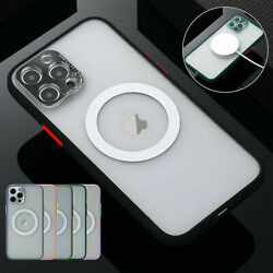 For Iphone 11 12 Pro Max Xs Xr 7 8 Plus X Magnetic Ring Stand Plating Case Cover