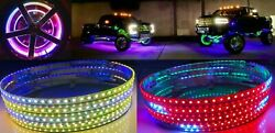 Remote Ctrl Led Wheel Ring Light Dynamic Color Chasing And Solid Static 15.5 Cars