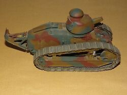 Vintage Rare Toy French Marcel Dassault Metal Battle Tank