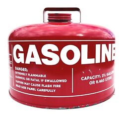 Chilton Gas Can 2.5 Gallon Western Industries Metal Vented Red Usa