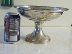 2lb+ Weighted And Reinforced Prelude International Sterling Silver Compote Dish
