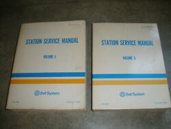 Vintage Bell System Station Service Manuals Vol I And Vol Ii August 1980 B32