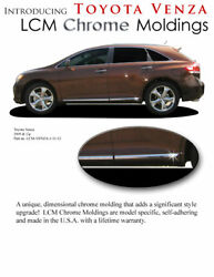 Chrome - Body Side Moldings Lower Trim Mouldings For Toyota Venza 2009-2015