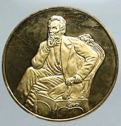 United States Abraham Lincoln Official Presidential Portrait Old Medal I91356