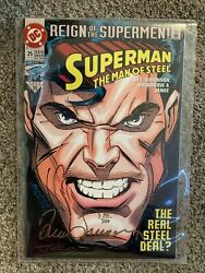 Dc Comic Superman The Man Of Steel Reign Of The Supermen Limited Signed Copy
