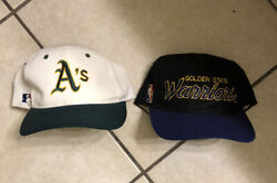 Vintage Sports Specialties Oakland A's Golden State Warriors Mlb Snapback Hat