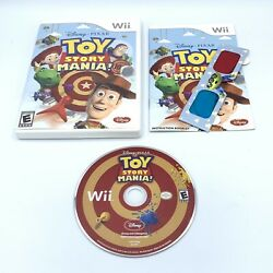 Toy Story Mania Nintendo Wii Video Game Complete W/ 3d Glasses And Manual