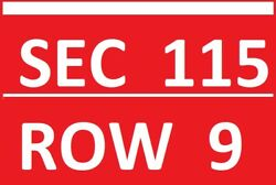 4 Pittsburgh Steelers Kansas City Chiefs Tickets Section 115 Row 9 Lowers 12/26