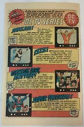 1976 Dc Tv Show Comics Ad Page Shazam, Isis, Welcome Back Kotter, Super Friends