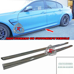 Vr-style Side Skirt Extensions Carbon Fits 15-18 Bmw F80 M3