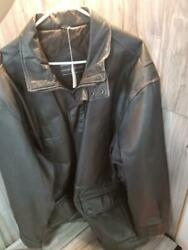 David Taylor Watches Leather Bomber Jacket Psl020764
