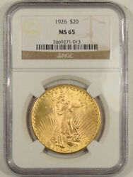 1926 20 St Gaudens Gold - Ngc Ms-65 Tripled Die Obverse But Not On Holder