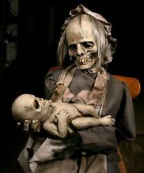 Lullaby Zombie Mummy Animated Prop Haunted House Yard Halloween Ghost Mom