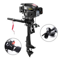 4 Stroke 6hp Gas Outboard Motor Fishing Boat Trolling Engine Air Cooling Usa