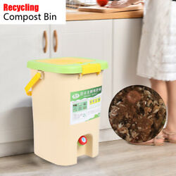 HDPE Aerated Organics Compost Bin Kitchen Food Recycle Waste Bucket 21L US STOCK $63.92