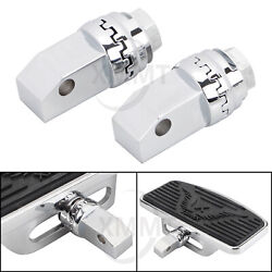 Chrome Metal Footboard Floorboard Connection Adapters For Honda Shadow Ace 97-03