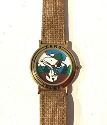 Vintage PEANUTS CAMP SNOOPY SCOUT ARMITRON WATCH LIKE NEW NEVER WORN