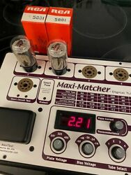 Matched Pair Nos Rca 5881/6l6wgb Tubes Best Tone For Vintage Fender Tube Amps