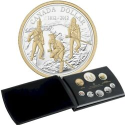 200th Anniversary War Of 1812 - 2012 Canada Fine Silver Proof Set Of Coins