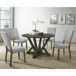 Best Master Furniture 5 Pcs Antique Grey Dinette Set Grey 5-piece Sets