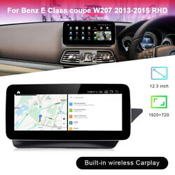 12.3 Android Car Gps Navi Video Player Wifi For Benz E Class Coupe 2013-15 Rhd