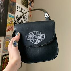 authentic harley davidson black leather purse $40.00