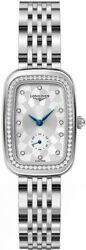 Brand New Longines Equestrian Silver Dial Steel Womenand039s Diamond Watch L61420776