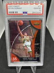 2007 Topps Finest Kevin Durant 71 Psa10