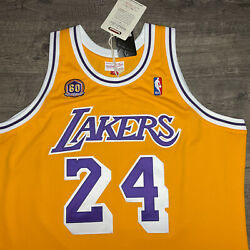 Authentic Mitchell And Ness 07/08 Los Angeles Lakers Kobe Bryant Jersey 48 Rare