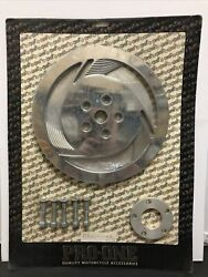 Nos Pro-one Chrome Belt Drive Cover Tri Fan 70 Tooth Harley Davidson Motorcycle