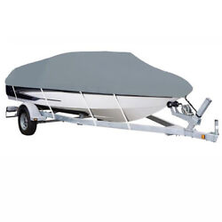 17-19ft Heavy Duty Waterproof Boat Cover Beam Width 95 Fit V-hull Fishing Boat