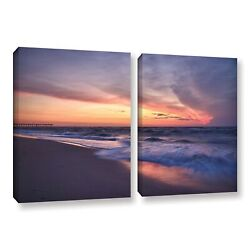 Artwall And039dan Wilsonand039s Outer Banks Sunset Iand039 2-piece Gallery Extra Large