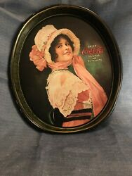 Antique Coca-cola Betty Full Size Tray Printed In 1972 Good Condition