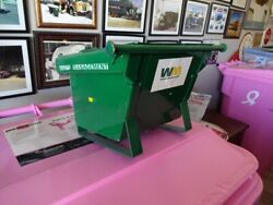 Rare Custom Made Garbage Trash Refuse Truck Dumpster Wm Green Maybe 1 Of A Kind