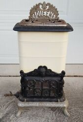 Antique Eriez Stove And Mfg Co Erie Pa Queen No 2 Gas Parlor Heater Cast Iron