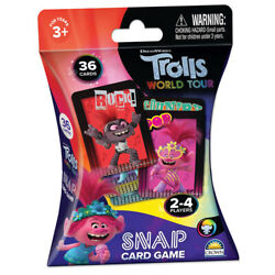 New 36pcs Trolls 2 Snap Card Game For Kids 3+ Adult Family Fun Play Toys
