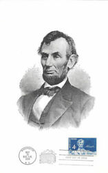 1116 First Day Souvenir Card 4c Abraham Lincoln Stamp W/fdc