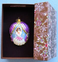 Jay Strongwater Nutcracker Suite Egg-shaped Ornament New In Box