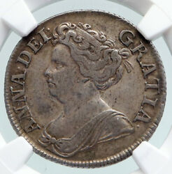 1711 Great Britain Uk Queen Anne Antique English Silver Shilling Coin Ngc I91592