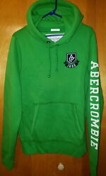 Abercrombie amp; Fitch Hoodie Hooded Sweatshirt Green Pull Over Men#x27;s Size XL $30.99