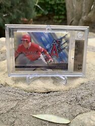 """2016 Topps Finest Franchise Finest Mike Trout Superfractor 1/1 Bgs 9.5 🔥""""goat"""""""