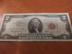 Super Rare 1 Dollar Billandnbsp From 1963 With Red Seal And Red Numbers
