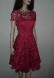 Ted Baker Career Lace Pink Flare Dress Size 2 Us Size 0 Ted Baker