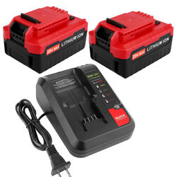 6.0ah For Porter Cable 20v Battery Li-ion Pcc685l Pcc680l Tool And Pcc692l Charger