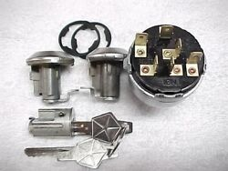 61 - 65 Nos Restored Mopar Dodge Plymouth Ignition Door Locks And Ignition Switch