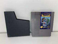 Rampage Nintendo Entertainment System Nes Game Cartridge And Sleeve Tested
