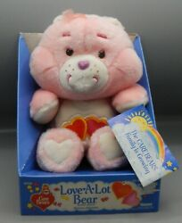 1985 Vintage Kenner Love A Lot Bear Care Bears Plush Toy Doll Mib Mip Cute Pink