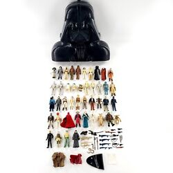 Vintage 1977-1984 Star Wars Figures Lot Of 42 W/ Darth Vader Case And Accessories